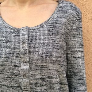 Splendid Grey Heather Rib Knit Sweater